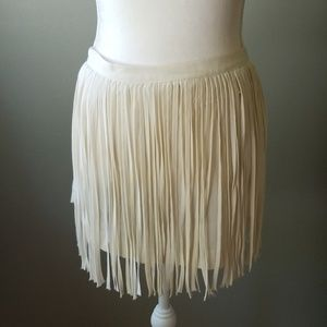 Zara basic fringe skirt